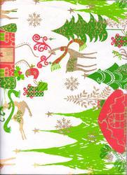 Gift Wrapping Paper Handmade & Screen Printed in four Colors