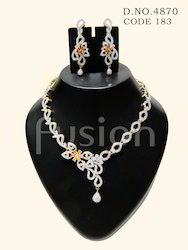 Cubic Zircon Necklace Set