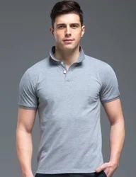 Cotton Plain Polo T Shirt