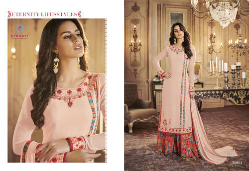 99673324c0 Palazzo Suit - Western Wear Ladies Palazzo and Kurti Authorized Wholesale  Dealer from Surat