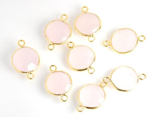 Pink Chalcedony Sterling Silver Gemstone Connector
