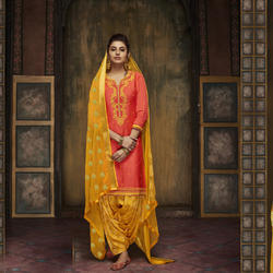 Unstitched Patiyala Salwar Suit