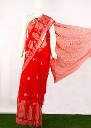 Chikan Embroidered Skirt Saree