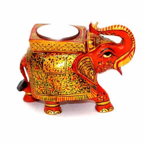 Handicrafts Manufacturers Wooden Elephant Candle Holder