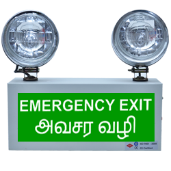 X-Lite Industrial Emergency Light with Exit