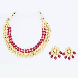 Kundan Mala Necklace Set - 40646