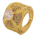 Party Wear Rhodium Plated Navratna Diamond Stone Ring
