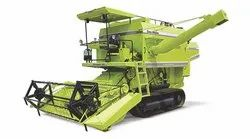 Track Combine Harvester with Straw Walker