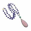 Pink Opal Drop Pendant Necklace