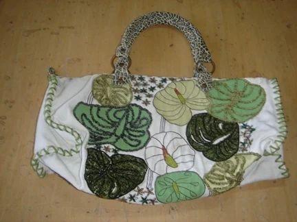 Leaf applique bag & antique suite bag manufacturer from gurgaon