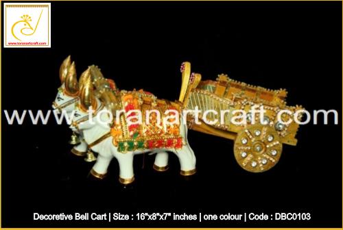 Golden Decorative Bell Cart