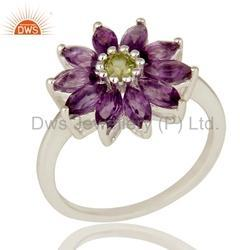 New Arrival Natural Gemstone 925 Silver Ring Jewelry
