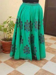 Women Cotton Printed Long Skirt