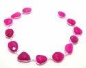 Stone Pink Chalcedony Bezel Chain