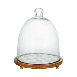 Cake Dome with Wooden Base