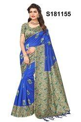 Hit Fancy Bhagalpuri Silk Sari