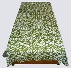 Kantha Ikat Single Bed Cover