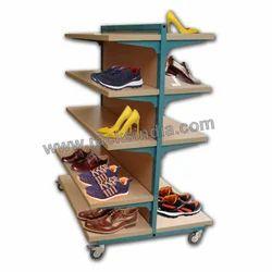 Shoes Display Racks Slat Wall Panel For Shoes