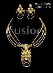 Polki Designer Trendy Traditional Necklace Set