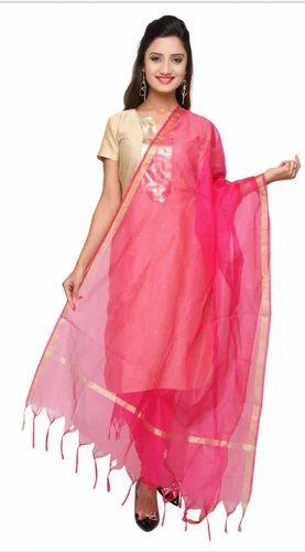 7b68304fe Dupatta - Delicate Gold Zari Lace DB0698 Dupatta Wholesaler from Mumbai
