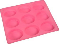 Oval Silicone Soap Mold 125 gms