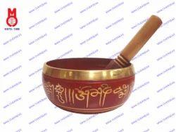 Nepali Singing Bowl Red Patina