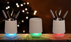 Pen Stand Bluetooth Speaker with Changing Light