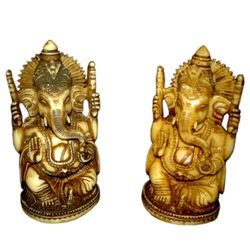 Resin Antique Carving Ganesha Statue