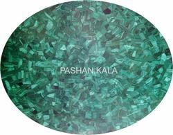 Round Malachite Table Top