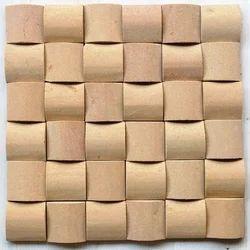 Teak sand stone wall cladding mosaic tiles