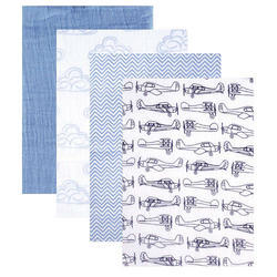 Organic Certified Cotton Baby Swaddles 2 Color Printed