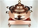 Copper Hammered Degh Set with Heritage Chowki