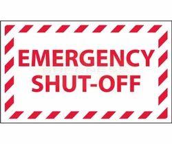Emergency Shut-Off Sign Marker