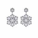 Pave Diamond Moonstone Earrings