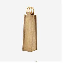 Juteberry Jute Bottle Bag Cane Handle