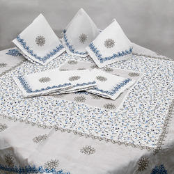 Chikan Embroidered Table Top Cloth