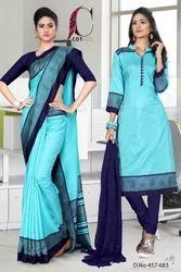 Uniform Saree Salwar Set