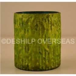 Green Silver Candle Votive