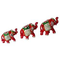 Meena Painted Elephant Set