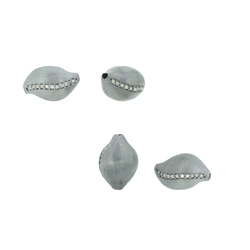 Conch Shaped Diamond Matte Beads