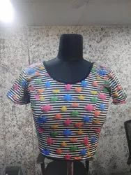Digital Print Stretchable Blouse