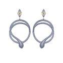 Designer Dangle Snake Earrings