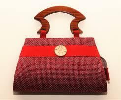 Palanquin Wooden Handle Jute Hand Bags