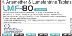 LMF 80 Artemether and Lumefantrine
