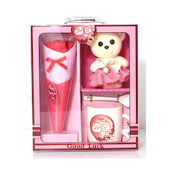 Decorative Box with Teddy And Cup Corporate & Festival Item