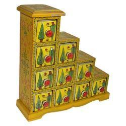 Painted Lemon Chilli Wooden Blue Pottery Drawer