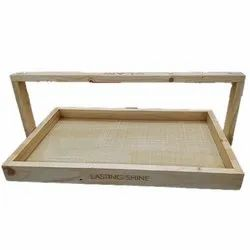 Wooden Portable Cosmetic Case