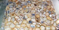 Gemstone Agate Square Table Top