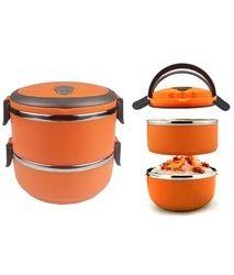 Orange  2 Layer Lunch Box