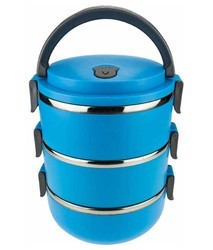 Blue 3 Layer Lunch Box